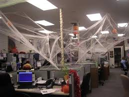 office halloween decorations. Office:Brilliant Halloween Office Decorations With Unique White Spider Webs And Ceiling Lighting Also C