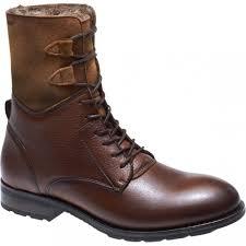 tan sebago laney lace boot womens cognac leather suede