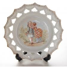 decorative wall cabinet plate depicting