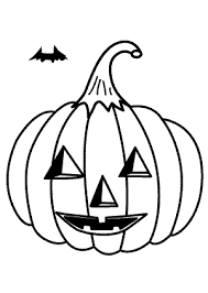jack o lantern coloring pages for kids bat printable free coloing 4kids