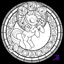 Stained Glass Rarity Line Art By
