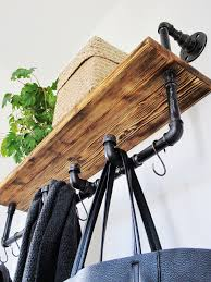 Black Pipe Coat Rack Industriální trubkový věšák Industrial pipe rack Projects 90