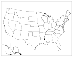 Small Picture Blank Outline Map Of United States Of America Simplified Vector