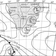 Weather Sa Synoptic Chart A Synoptic Pressure Chart At Mean Sea Level Based On South