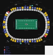 Spanos Theater Seating Chart 24 Particular Heinz Field Seating Chart Virtual View