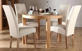 cream round table and chairs round oak dining table and 4 chairs impressive on cream dining