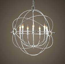 chandeliers crystal orb chandelier iron wrought