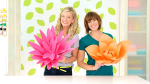 Chart Paper Flower Making How To Make Giant Paper Flowers Youtube