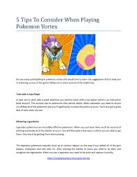 Pokemon Vortex Evolution Chart If You Are Playing Pokemon Go And Trying To Win And Take