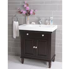 small bathroom vanity cabinet. Bathroom: Gorgeous Black Small Bathroom Vanity Design With Decorative Vase And Ring Towel Holder - Cabinet T