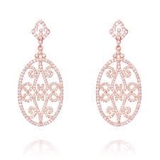 ingenious rose gold drop oval chandelier earrings
