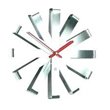 post floating wall clock round crystal diamonds square numbers hamptons