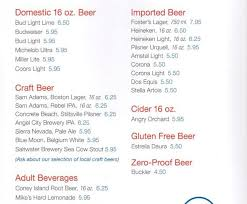 Carnival Cruise Full Beer Menu (With Prices) | Cruzely.com