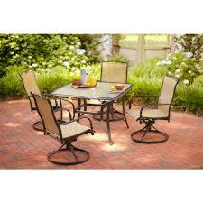 hampton bay altamira diamond 5 piece patio dining set