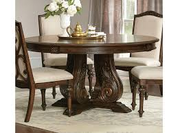 round dining table in antique java brown