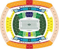 New York Jets Metlife Stadium Seating Chart