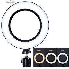 Đèn chiếu sáng hình tròn LED chiếu sáng chụp ảnh tự sướng ở điện thoại giảm  chỉ còn 128,500 đ