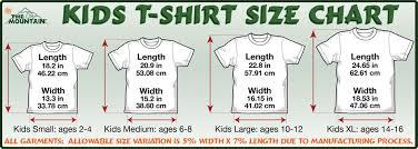 Asian T Shirt Measurement Chart A Love Like No Otter