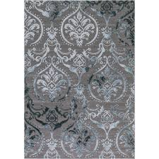 concord global trading thema large damask teal 8 ft x 11 ft area rug