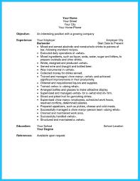 Job Description Of A Bartender For Resume Resume Job Description For Bartender Therpgmovie 31