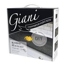 Paint Counter Top Giani Granite Bombay Black Countertop Paint Kit Fg Gi Bombay The