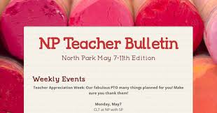 NP Teacher Bulletin Smore Newsletters For Education Cool F B Photo Np Love