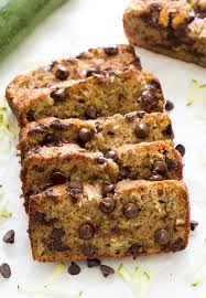 chocolate chip zucchini bread super moist soft and loaded with chocolate chips a
