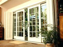 sliding glass door with built in blinds replacing french doors breathtaking andersen