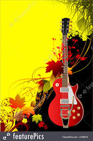 Music Brochure Cover For Music Brochure With Autumn Leaves And Guitar Image 16