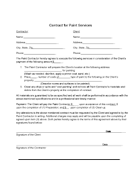 painting contract template 2 free templates in pdf word excel
