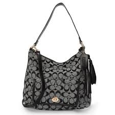Coach Kristin In Signature Medium Grey Shoulder Bags APM
