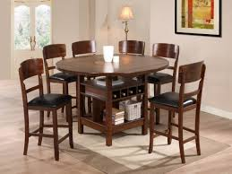 Granite Kitchen Table Sets Round Dining Table Set For 6 White Leather Of The Dining Chairs