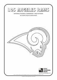 Football Logos Coloring Pages Cool Los Angeles Rams Nfl American