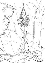 Disegno Della Torre Della Principessa Rapunzel Da Stampare Gratis E