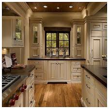 Wood Floors In Kitchens Dark Kitchen Cabinets With Light Wood Floors