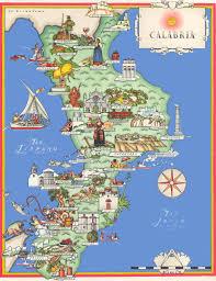 calabria tourist map