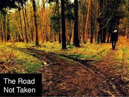 the road not taken robert frost essay
