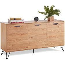 retro style furniture. VonHaus Capri 3 Door Sideboard - Oak Effect Finish With Black Hairpin Legs Retro  Style Retro Style Furniture G
