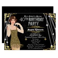 Great Gatsby Invitation Template Great Gatsby Flapper Girl Birthday Invitation