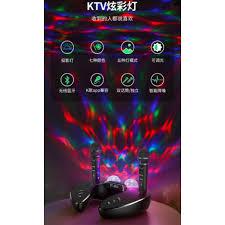 Tặng kèm 2 micro không dây] Loa bluetooth cao cấp ST 2021 - Dàn âm thanh  karaoke mini kèm 2 đèn led sống động giá cạnh tranh