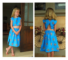 Crop Top Sewing Pattern Fascinating Best Little Girls Summer Fashion Crop Top And Pullon Skirt Pattern