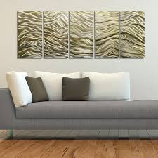 large contemporary gold abstract metal