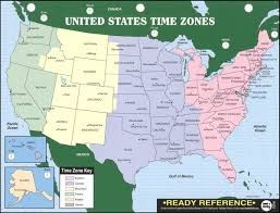 Us Map Chart U S World Maps With Time Zones Ready Reference Chart