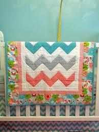 Chevron Stripe Baby Quilt Pattern Chevron Baby Quilt Kit Modern ... & 117 Best Baby Quilts Images On Pinterest Quilting Ideas Baby Quilt Patterns  And Patchwork Quilting Chevron ... Adamdwight.com