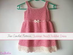 Free Crochet Toddler Dress Patterns