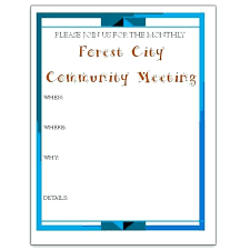Template Meeting Invitation Flyer Template Announcement Poster