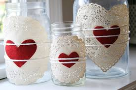 Decorating Ideas With Mason Jars Doilies Heart Jars Mason Jar Crafts Love 26