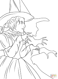 Small Picture Wizard of Oz Wicked Witch coloring page Free Printable Coloring