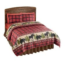 Cabin Bedding Sets Sale – Ease Bedding with Style & Collections Etc Woodland Cabin Moose Quilt, King, Multi Adamdwight.com