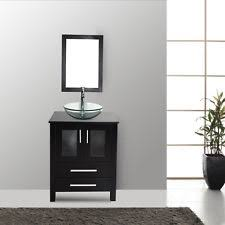 bathroom cabinets for vessel sinks. bathroom vanity cabinet 24-in top single clear vessel sink faucet mirror combo cabinets for sinks